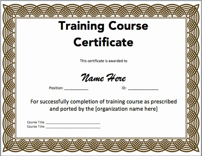 Microsoft Office Certificate Template Unique 15 Training Certificate Templates Free Download Designyep