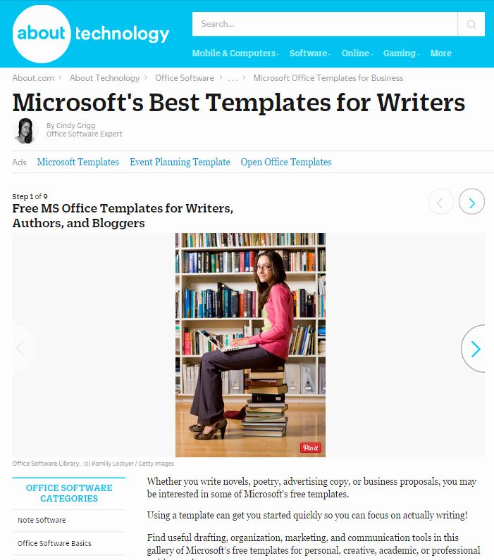 Microsoft Office Free Templates Elegant 8 Free Microsoft Fice Templates for Writers