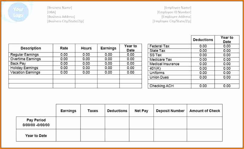 Microsoft Office Free Templates Inspirational 6 Pay Stub Template Microsoft Office