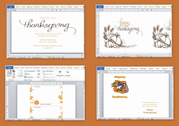 Microsoft Office Free Templates Inspirational Best Thanksgiving Templates for Microsoft Word