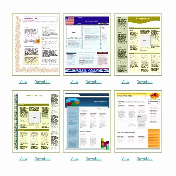 Microsoft Office Newspaper Templates Awesome Free Church Newsletter Templates for Microsoft Word