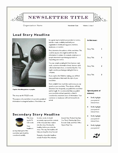 Microsoft Office Newspaper Templates Elegant Free Newsletter Template for Word 2007 and Later