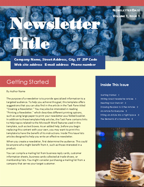 Microsoft Office Newspaper Templates Inspirational Newsletters Fice