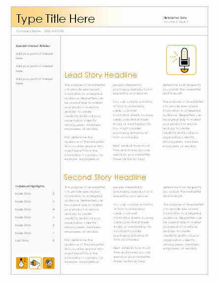 Microsoft Office Newspaper Templates Lovely Newsletters Fice