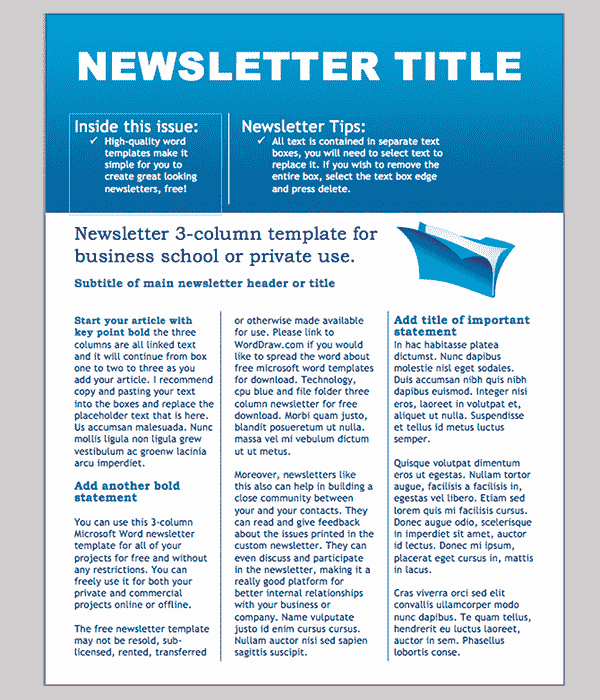 Microsoft Office Newspaper Templates New Word Newsletter Template – 31 Free Printable Microsoft