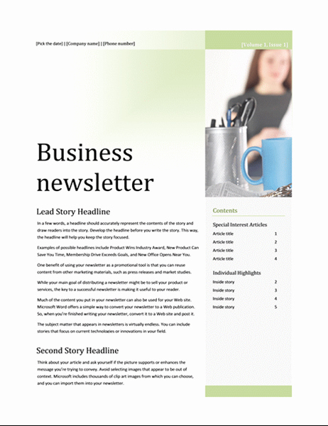 Microsoft Office Newspaper Templates Unique Newsletters Fice