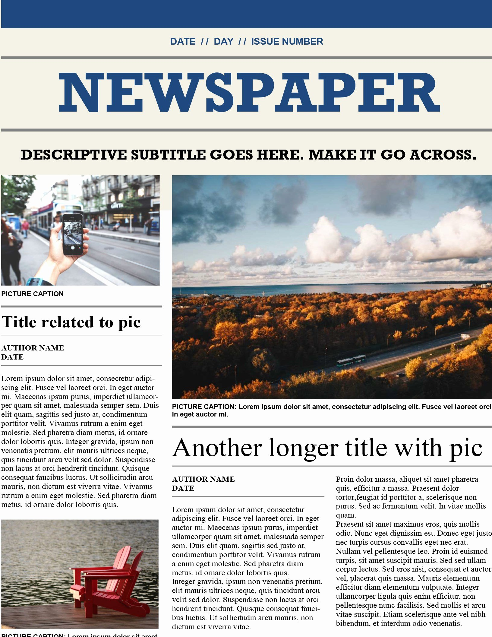 Microsoft Office Newspaper Templates Unique Traditional Newspaper