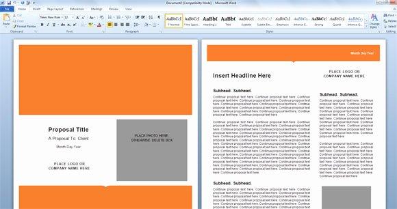 Microsoft Office Proposal Template Elegant Modern Proposal Template for Microsoft Word