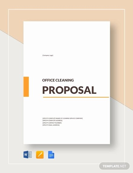 Microsoft Office Proposal Template Fresh 15 Cleaning Proposal Templates Word Pdf Apple Pages