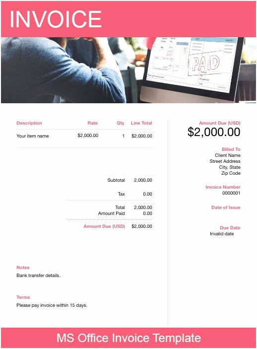Microsoft Office Receipt Template Best Of Ms Fice Invoice Template Free Download