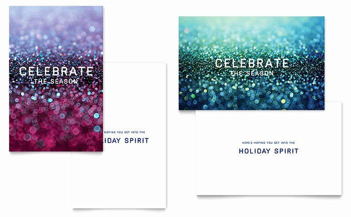 Microsoft Publisher Business Card Template Awesome Glittering Celebration Greeting Card Template Word
