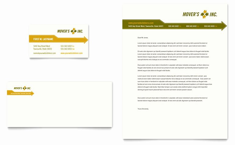 Microsoft Publisher Business Card Template Awesome Moving Service Business Card & Letterhead Template Word
