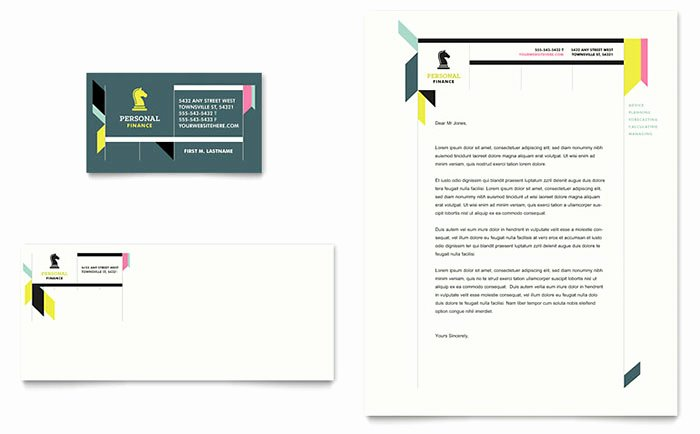 Microsoft Publisher Business Card Template Awesome Personal Finance Business Card & Letterhead Template