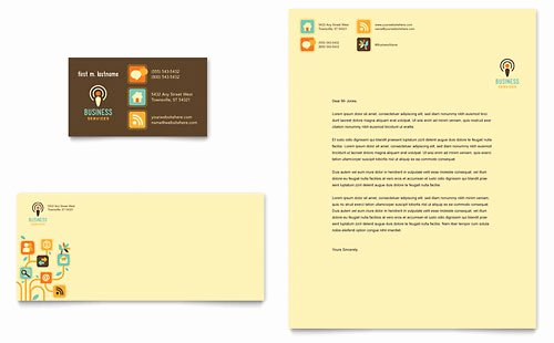 Microsoft Publisher Business Card Template Awesome Technology Letterhead Templates Word & Publisher