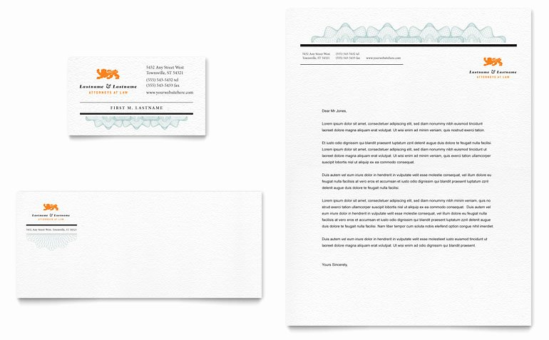 Microsoft Publisher Business Card Template Beautiful attorney Business Card & Letterhead Template Word