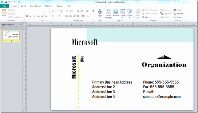Microsoft Publisher Business Card Template Inspirational How to Make A Business Card with Microsoft Publisher