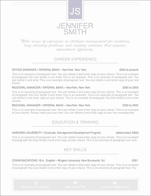Microsoft Word Cover Letter Templates Best Of Elegant Resume Template Premium Line Of Resume & Cover