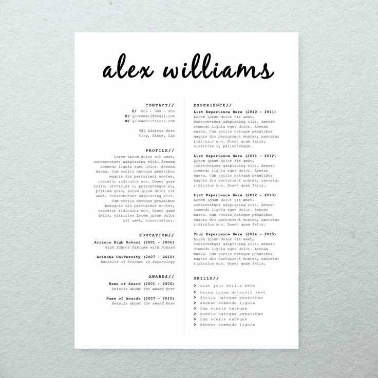 business infographic cv design cover letter printable resume template instant microsoft word