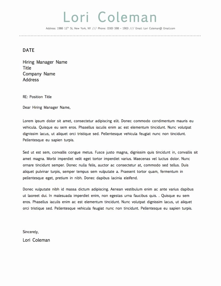 Microsoft Word Cover Letter Templates Luxury Simple Beautiful Cover Letter Template for Microsoft Word