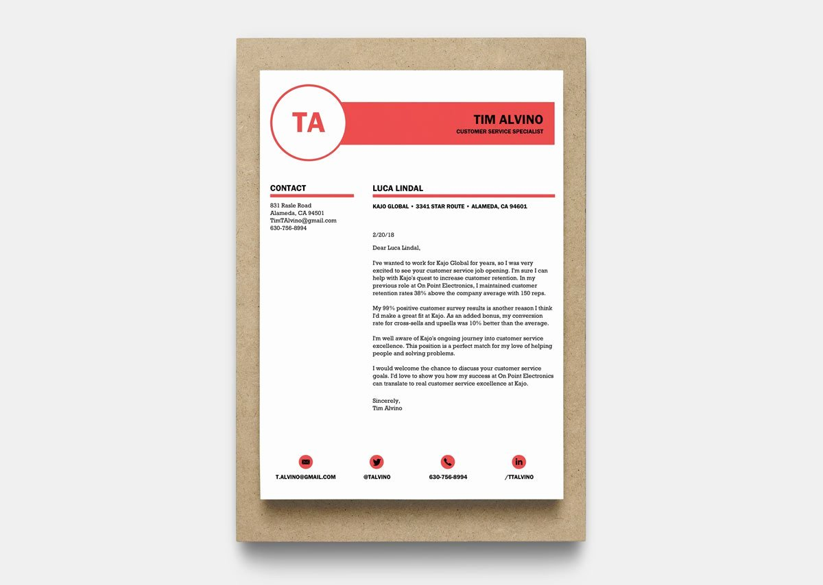 Microsoft Word Cover Letter Templates New 12 Cover Letter Templates for Word [best Free Downloadable