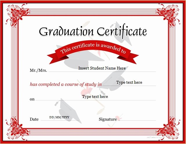 Microsoft Word Diploma Template Beautiful Graduation Certificate Templates for Ms Word