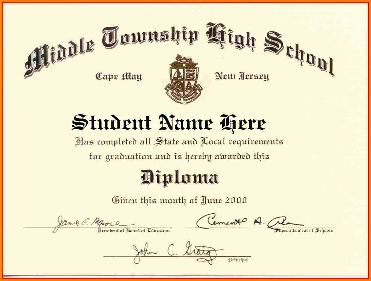 Microsoft Word Diploma Template Best Of High School Diploma Template Word Free Download