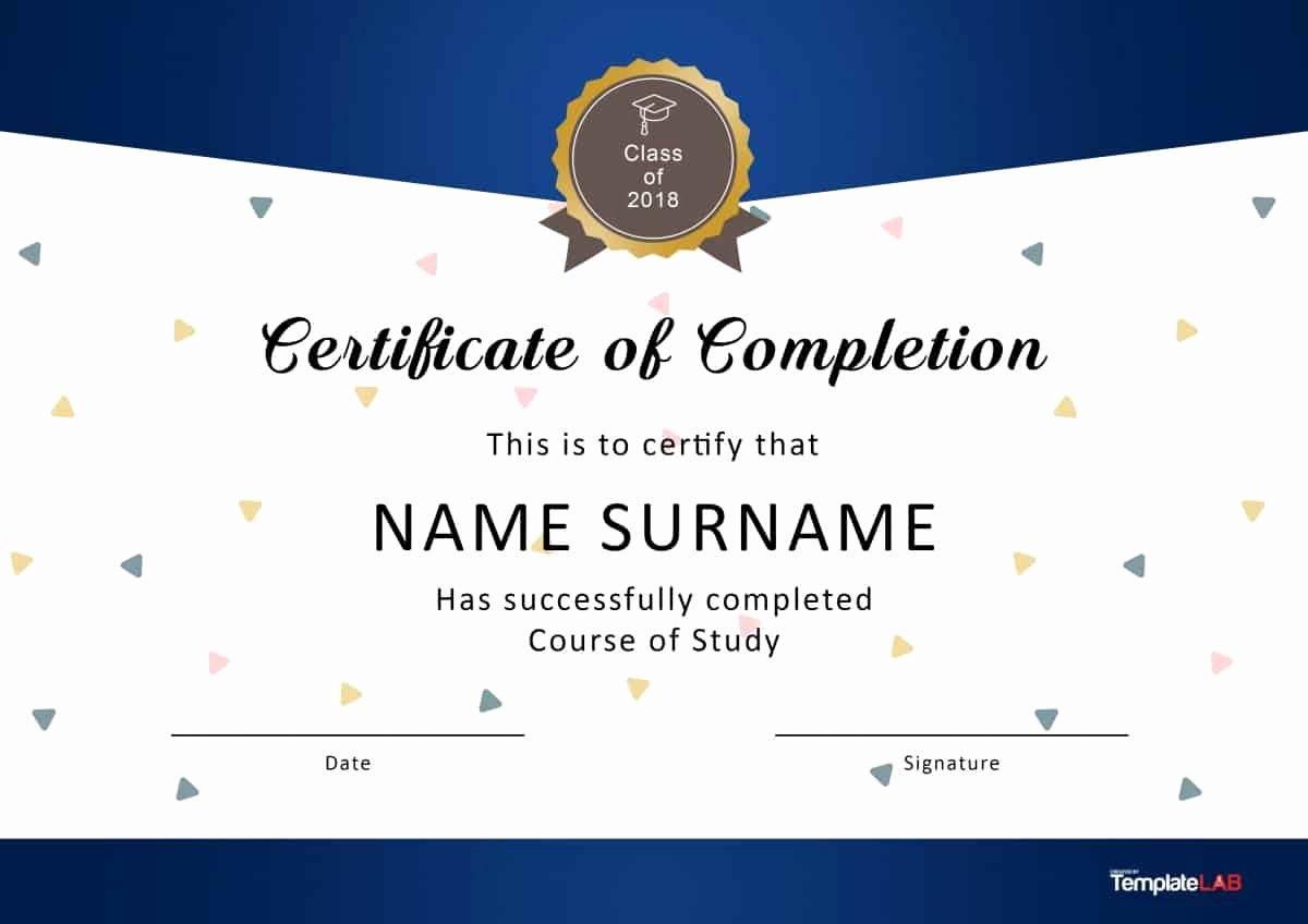 Microsoft Word Diploma Template Elegant 40 Fantastic Certificate Of Pletion Templates [word