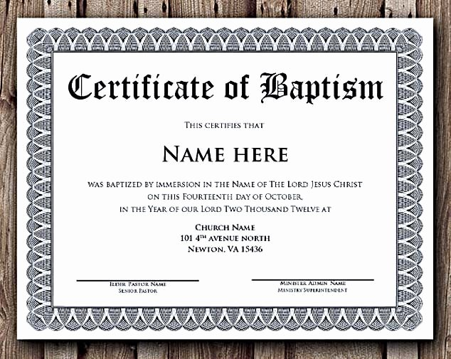 Microsoft Word Diploma Template Inspirational Baptism Certificate Word Editable Template Selecting