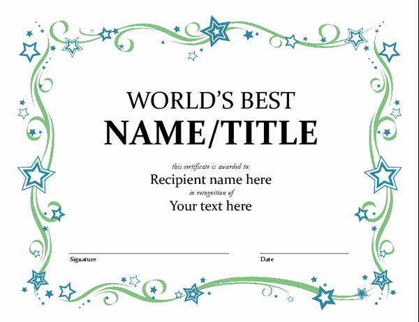 Microsoft Word Diploma Template New Certificates Fice