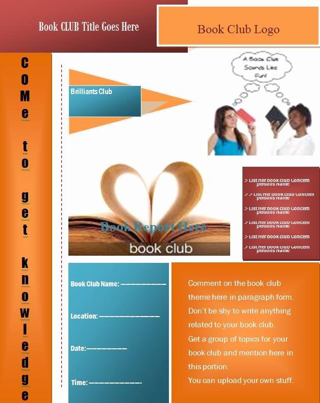 Microsoft Word Flyer Templates Free Elegant Book Club Flyer Template