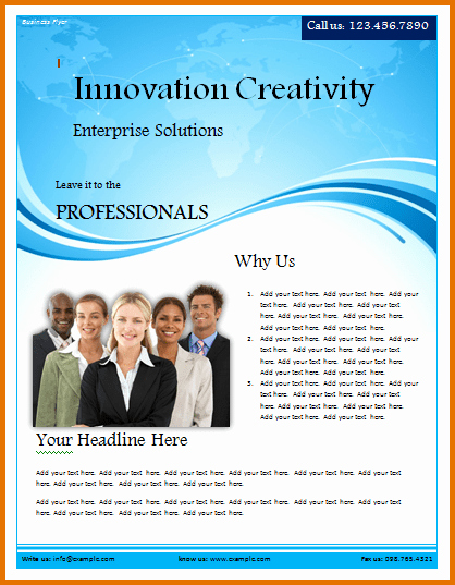 Microsoft Word Flyer Templates Free Lovely Free Business Flyer Templates for Microsoft Word – 40