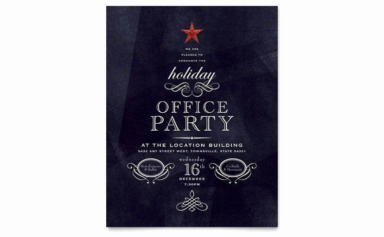 Microsoft Word Flyers Templates Free Inspirational Fice Holiday Party Flyer Template Word & Publisher