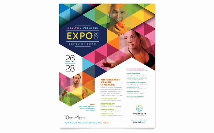 Microsoft Word Flyers Templates Free Luxury Health Fair Flyer Template Word & Publisher