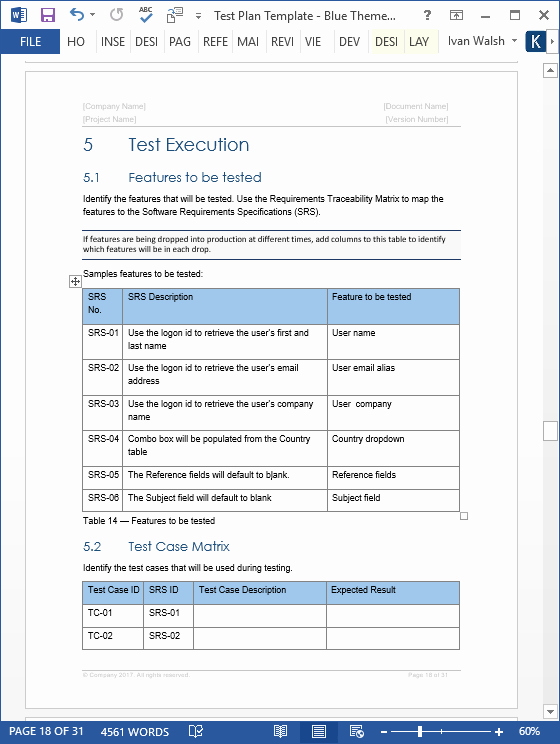 Microsoft Word Quiz Template Inspirational Test Plan Templates Ms Word Excel – Templates forms