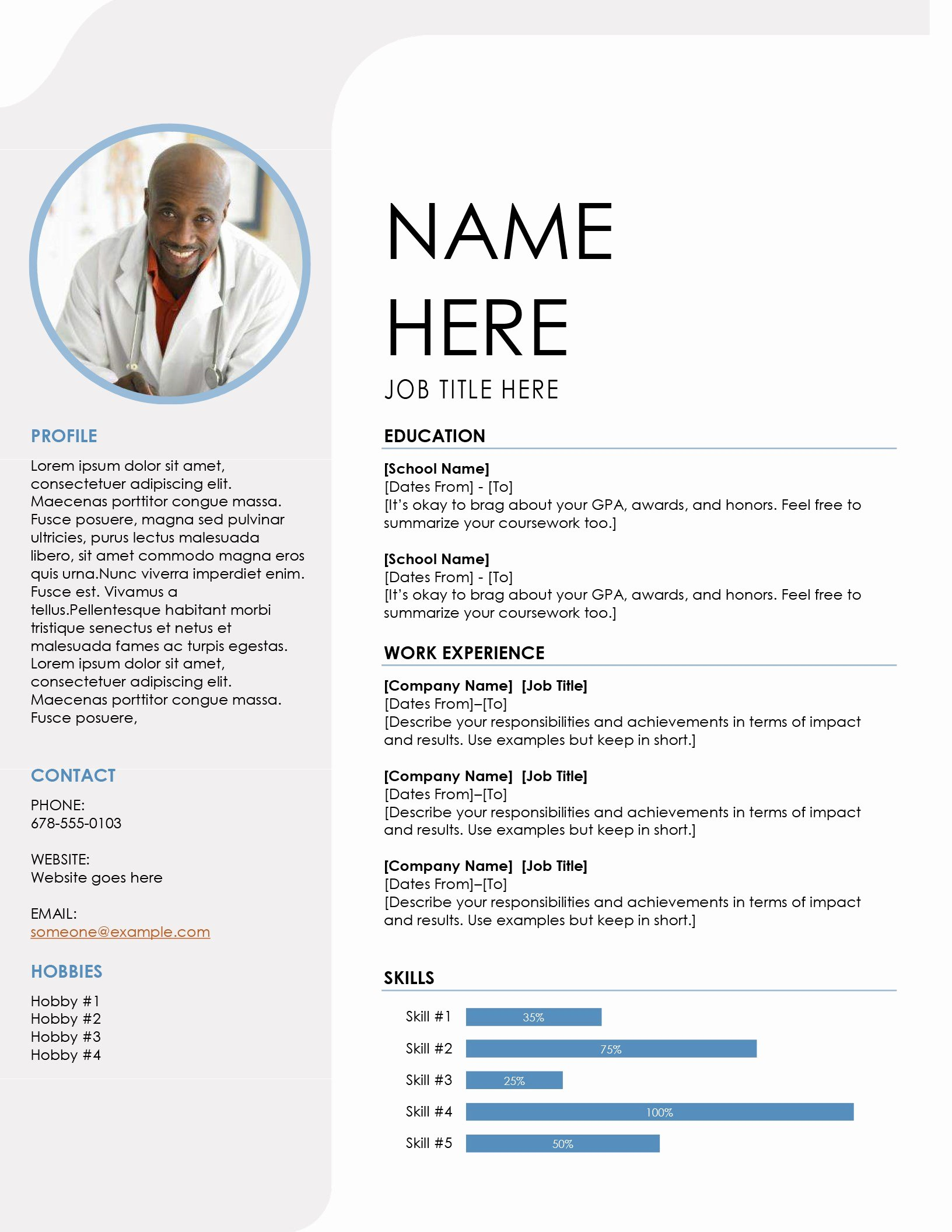 Microsoft Word Resume Example Lovely Resumes and Cover Letters Fice