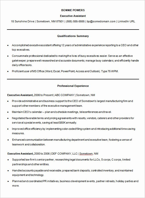 Microsoft Word Resume Example New A Successful Resume Template Open Fice for Job Seeker