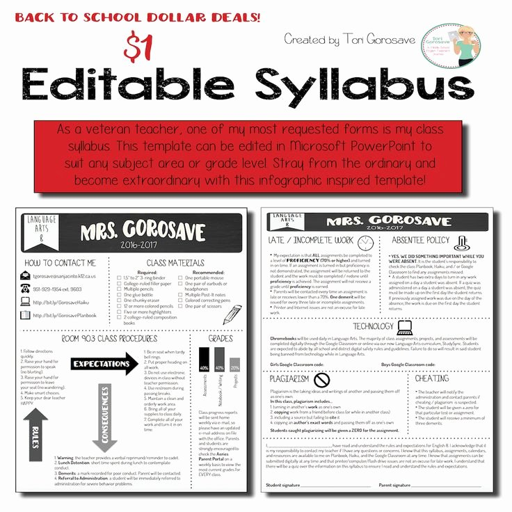 Middle School Science Syllabus Template Best Of Best 25 Class Syllabus Ideas On Pinterest