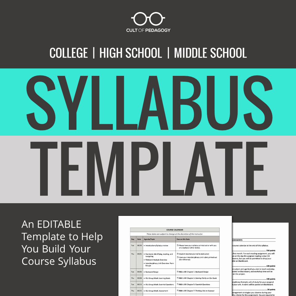 Middle School Science Syllabus Template New How to Write A Syllabus Administrators