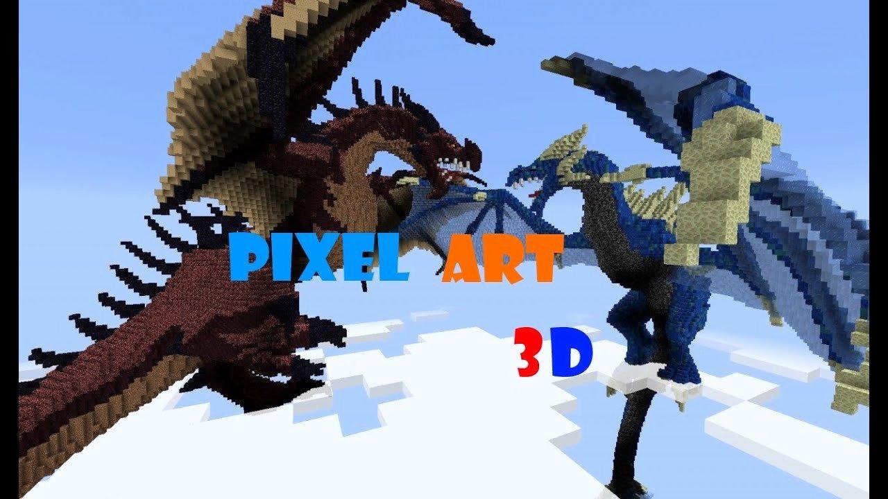 Minecraft 3d Pixel Art Awesome top 10 Pixel Art 3d Minecraft