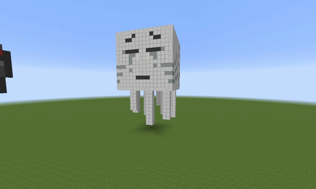 Minecraft 3d Pixel Art Beautiful Ghast 3d Pixel Art Minecraft Project