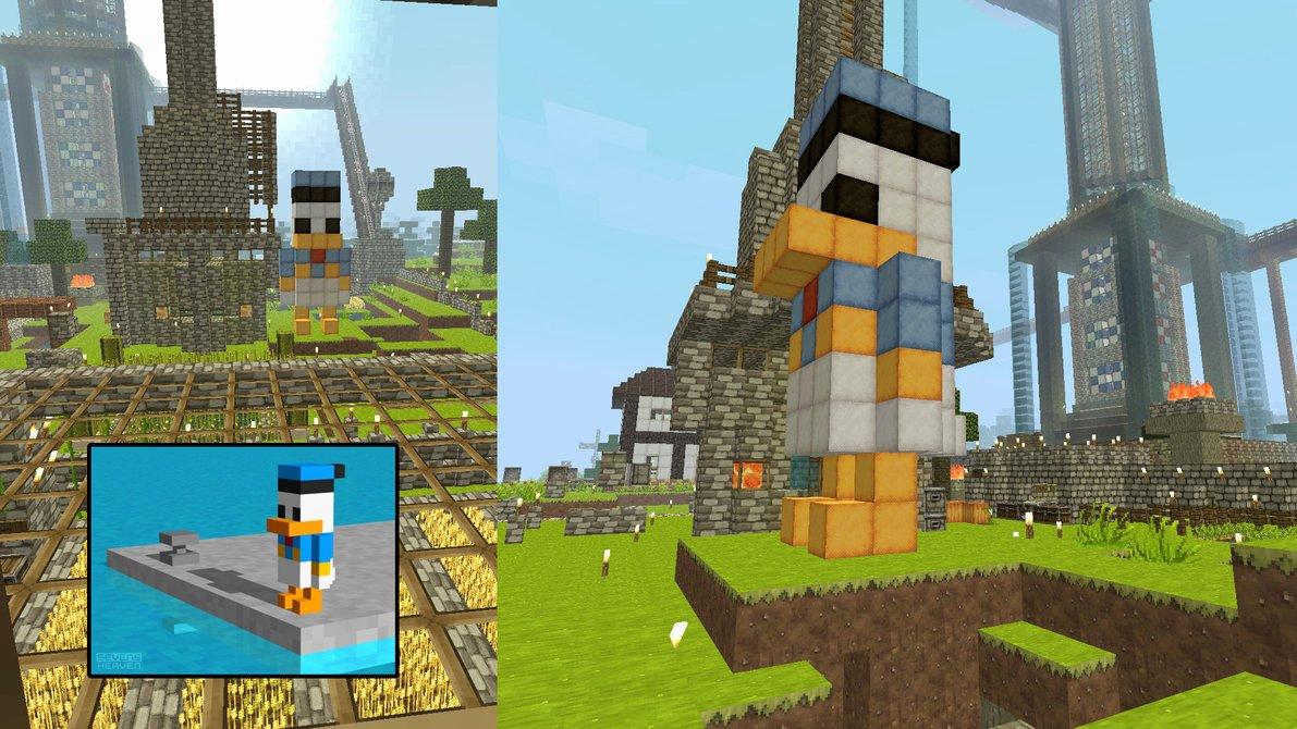 Minecraft 3d Pixel Art Beautiful Minecraft 3d Donald Duck Pixel Art by Shadowdame On Deviantart