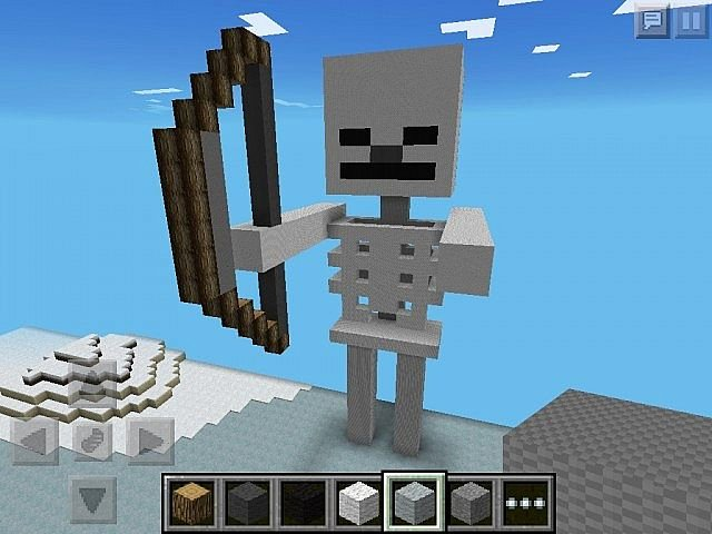 Minecraft 3d Pixel Art Beautiful Minecraft Pe Pixel Art 3d Skeleton Minecraft Project