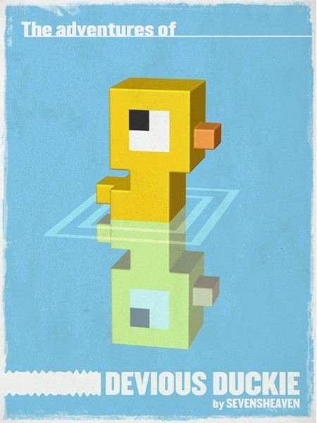 Minecraft 3d Pixel Art Beautiful Typographic Character Design Little Duckie Eendje 3d