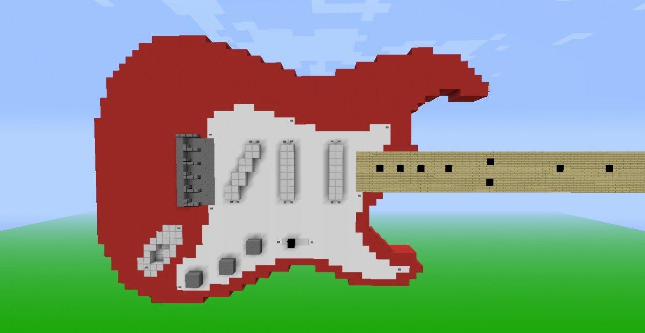 Minecraft 3d Pixel Art Best Of 35 Subscriber Special 3d Pixel Art Fender Stratocaster