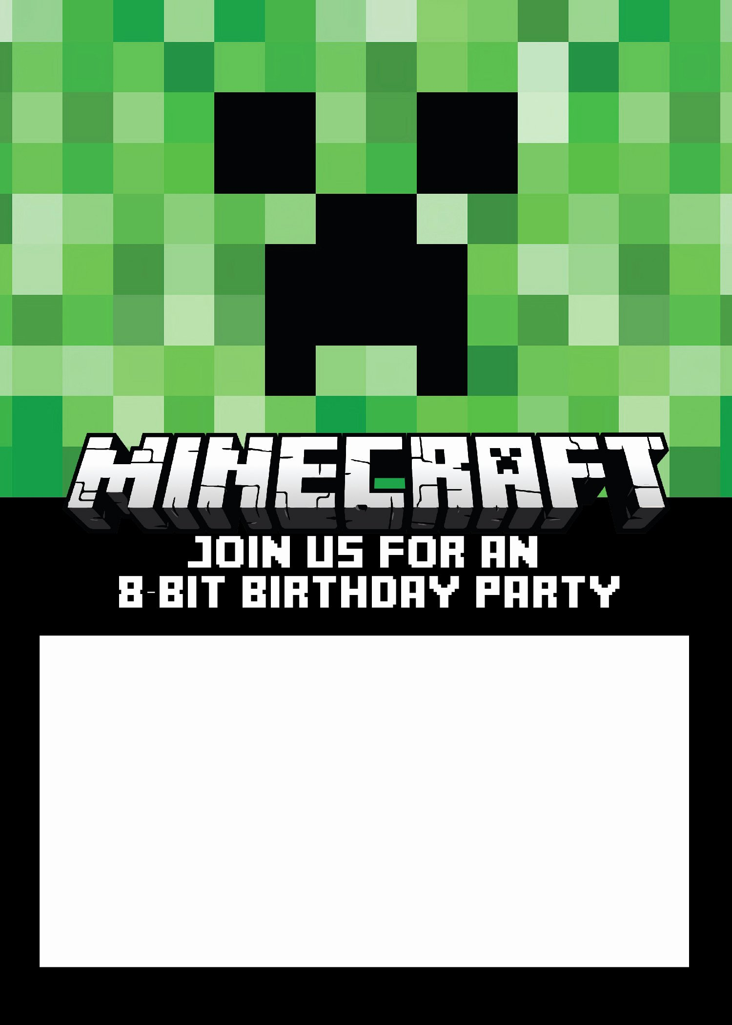Minecraft Birthday Invitations Free Beautiful Free Minecraft Birthday Invitations Personalize for