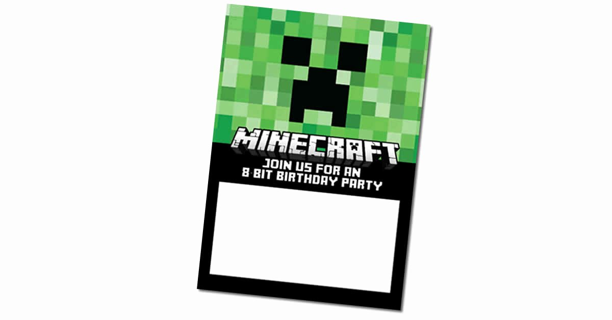 Minecraft Birthday Invitations Free Best Of Free Minecraft Birthday Invitations Personalize for