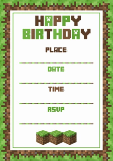 Minecraft Birthday Invite Template Awesome Benefits Of Minecraft Birthday Party Invitations