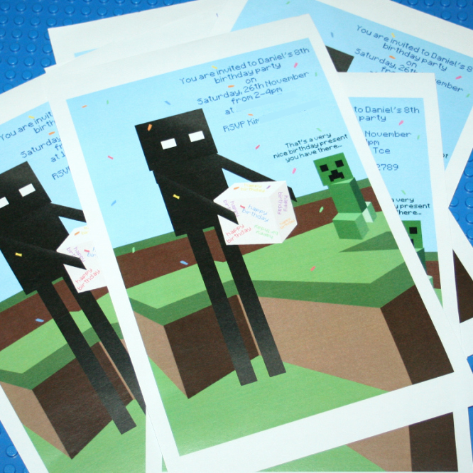 Minecraft Birthday Invite Template Awesome Wrinkly the Opposite Of Irony Minecraft
