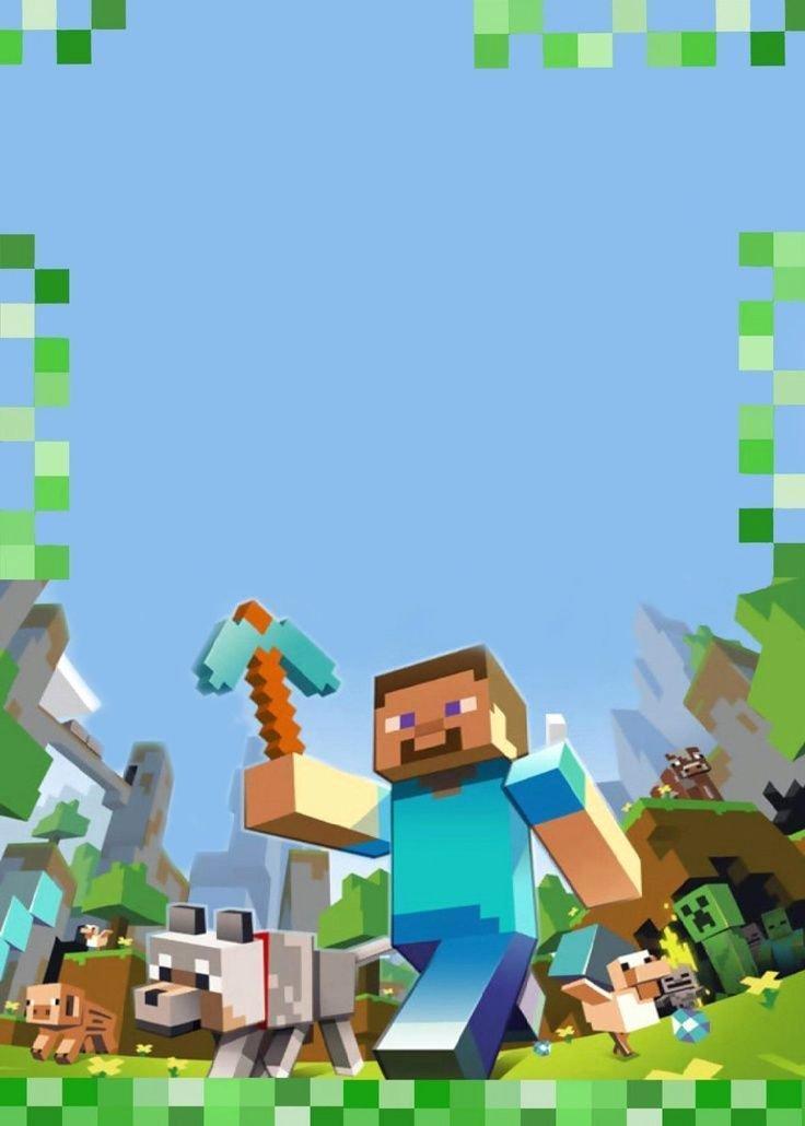 Minecraft Birthday Invite Template Beautiful Best 25 Minecraft Invitations Ideas On Pinterest