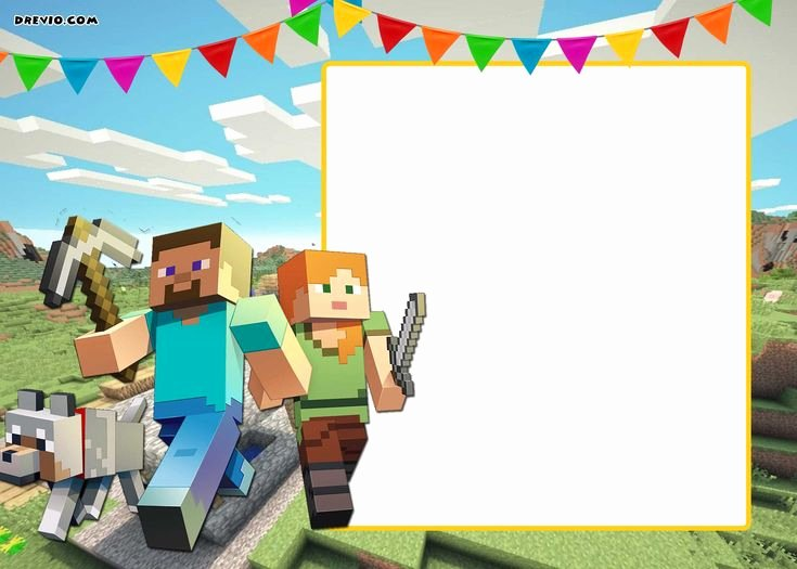 Minecraft Birthday Invite Templates Elegant the 25 Best Minecraft Birthday Invitations Ideas On